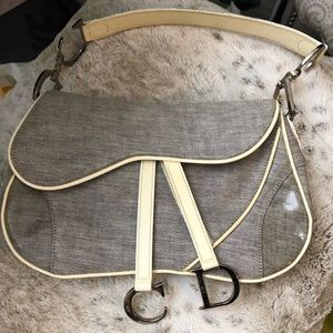 Authentic Vintage Christian Dior Saddle Purse
